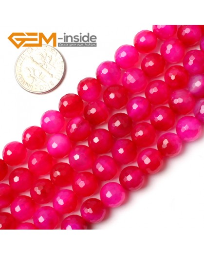 "G0166 8mm Round Faceted Gemstone Plum Agate Loose Beads Strand 15"" Free Shipping Natural Stone Beads for Jewelry Making Wholesale"