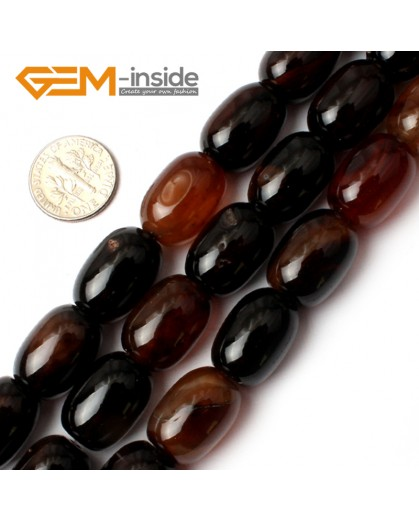 """G0187 13x18mm-Smooth Column Dream Lace Agate Gemstone Loose Beads Strand 15"""" Natural Stone Beads for Jewelry Making Wholesale"""