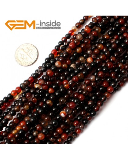 "G0192 4mm Dream Lace Agate Round Gemstone Tiny Jewelry Making Loose Spacer Beads Strand 15"" Natural Stone Beads for Jewelry Making Wholesale"