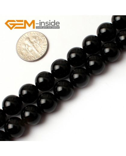 "G0208 10mm Round Gemstone Black Agate Beads Jewelry Making Loose Beads 15""  Free Shipping Natural Stone Beads for Jewelry Making Wholesale"
