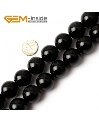 "G0212 18mm Round Gemstone Black Agate Beads Jewelry Making Loose Beads 15""  Free Shipping Natural Stone Beads for Jewelry Making Wholesale"