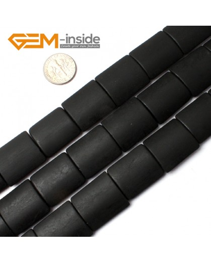 "G0244 18X22mm Rectangle Matte Black Agate Stone Beads Strand 15""  Natural Stone Beads for Jewelry Making Wholesale"