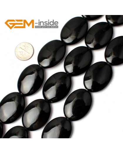 """G0299 22x30mm Natural Oval Black Agate Onyx Gemstone Loose Beads 15"""" Jewelry Making Beads Natural Stone Beads for Jewelry Making Wholesale"""