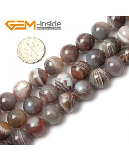"G0370 12mm Round Natural Gemstone Botswana Agate Loose Beads Strand 15"" Free Shipping Natural Stone Beads for Jewelry Making Wholesale"