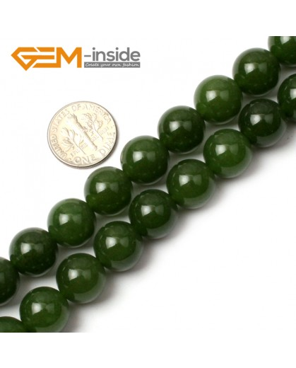 "G0495 12mm Round Green Taiwan Jade Beads Strand 15"" Free Shipping Natural Stone Beads for Jewelry Making Wholesale"