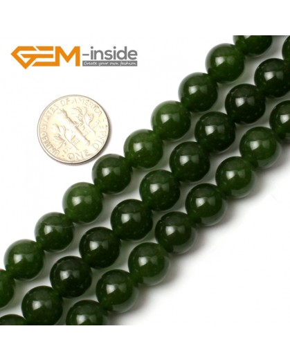 "G0496 10mm Round Green Taiwan Jade Beads Strand 15"" Free Shipping Natural Stone Beads for Jewelry Making Wholesale"