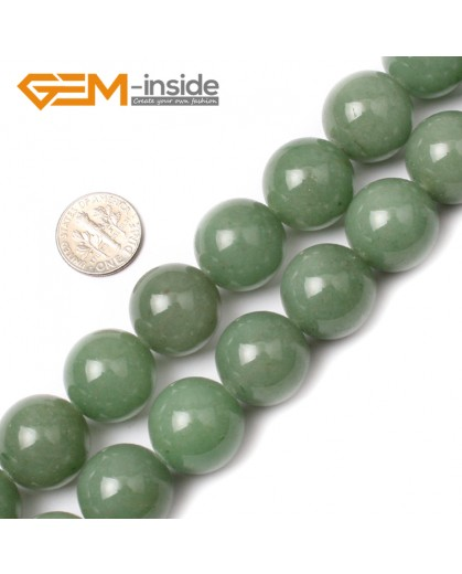 "G0524 18mm  Round Green Jade Aventurine Beads Strand 15""Jewelry Making Gemstone Loose Beads Natural Stone Beads for Jewelry Making Wholesale"