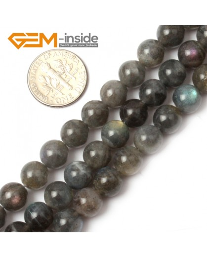 "G0615 8mm Natural Round Rainbow Labradorite Beads Jewelry Making Gemstone Loose Beads 15"" Natural Stone Beads for Jewelry Making Wholesale"