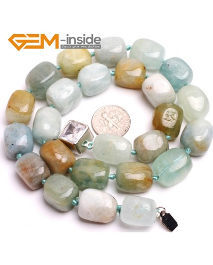 "G10358 13x18mm Freefrom Mixed Color Aquamarine Gemstone Beads Handmad Finished Jewelry Necklace 18"" Gemstone Birthstone Necklaces Fashion Jewelry Jewellery"