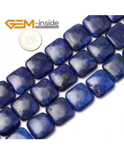 "G1052 18mm (Square) Blue Lapis Lazuli DIY Jewelry Making Gemstone Loose Beads 15"" Natural Stone Beads for Jewelry Making Wholesale"