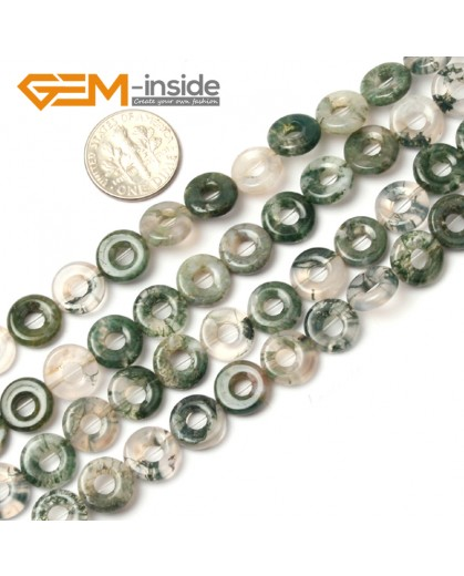 "G1152 10mm Green Ring Loop Gemstone Agate Stone Beads Loose Beads Strand 15"" Free Shipping Natural Stone Beads for Jewelry Making Wholesale"