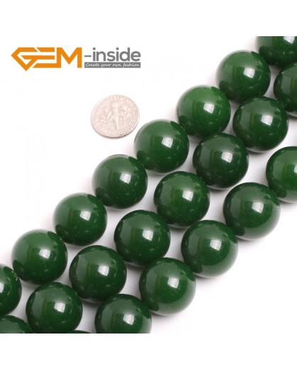 "G15080 20mm Round Green Taiwan Jade Beads Strand 15"" Free Shipping Natural Stone Beads for Jewelry Making Wholesale"