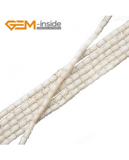 "G2235 6x9mm White Flower Shape Gemstone Jewelry Making Red Coral Loose Beads Strand 15"" Natural Stone Beads for Jewelry Making Wholesale"