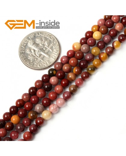 "G2438 4mm Round Mookaite Jasper Gemstone Tiny Jewelry Making Loose Spacer Beads Strand 15"" Natural Stone Beads for Jewelry Making Wholesale"