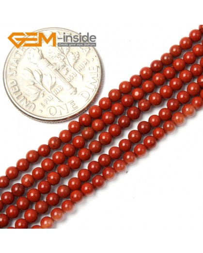 "G2456 2mm natural red jasper Round Gemstone Tiny Jewelry Making Loose Spacer Beads Strand 15"" Natural Stone Beads for Jewelry Making Wholesale"