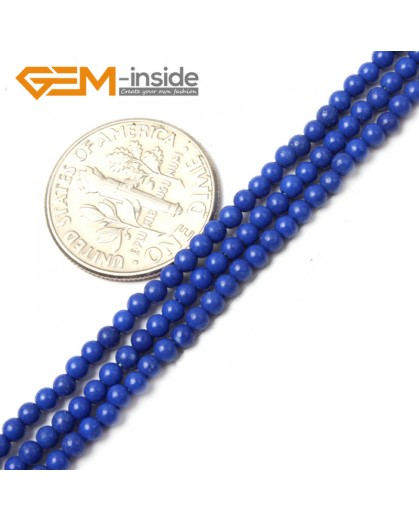 "G2465 2mm manmade lapis lazuli Round Gemstone Tiny Jewelry Making Loose Spacer Beads Strand 15"" Natural Stone Beads for Jewelry Making Wholesale"