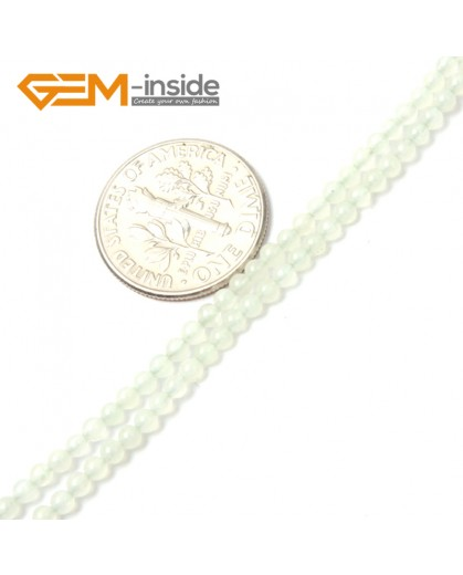 "G2473 2mm Natural Huashow Jade Round Gemstone Tiny Jewelry Making Loose Spacer Beads Strand 15"" Natural Stone Beads for Jewelry Making Wholesale"