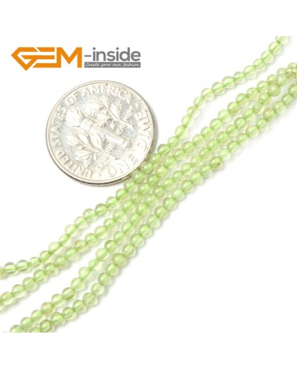 "G2475 2mm Natural Green Peridot  Round Gemstone Tiny Jewelry Making Loose Spacer Beads Strand 15"" Natural Stone Beads for Jewelry Making Wholesale"