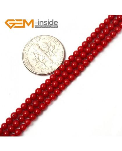 "G2478 3mm Red Coral Round Gemstone Tiny Jewelry Making Loose Spacer Beads Strand 15"" Natural Stone Beads for Jewelry Making Wholesale"