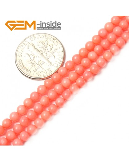 """G2482 3mm Pink Coral Round Gemstone Tiny Jewelry Making Loose Spacer Beads Strand 15"""" Natural Stone Beads for Jewelry Making Wholesale"""