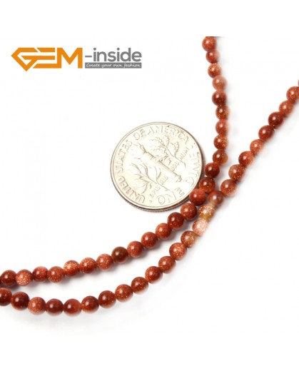 "G2489 3mm Round Gold Sandstone Gemstone Tiny Jewelry Making Loose Spacer Beads Strand 15"" Natural Stone Beads for Jewelry Making Wholesale"