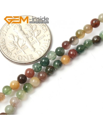 "G2495 3mm Natutal Indian Agate Stone Round Gemstone Tiny Jewelry Making Loose Spacer Beads Strand 15"" Natural Stone Beads for Jewelry Making Wholesale"