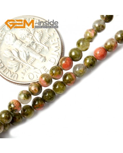 "G2501 3mm Natutal Green Unakite Stone Round Gemstone Tiny Jewelry Making Loose Spacer Beads Strand 15"" Natural Stone Beads for Jewelry Making Wholesale"