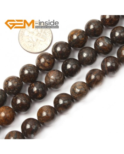"G1013 16mm Round Gemstone Natural Bronzite Stone Beads Loose Beads Strand15"" Natural Stone Beads for Jewelry Making Wholesale"
