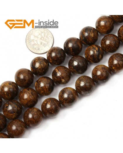 "G2632 12mm Round Gemstone Natural Bronzite Stone Beads Loose Beads Strand15"" Natural Stone Beads for Jewelry Making Wholesale"