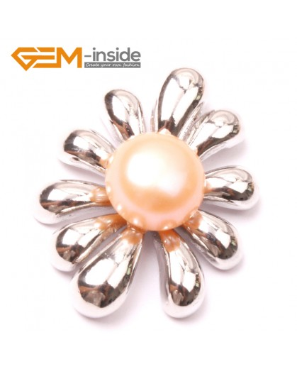 G2906 Natural pink 10-11mm Cultured Freshwater Pearl White Gold Plate Flower Tree Shape Pendant Fashion Jewelry Pendants Fashion Jewelry Jewellery
