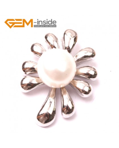G2907 Natural white 10-11mm Cultured Freshwater Pearl White Gold Plate Flower Tree Shape Pendant Fashion Jewelry Pendants Fashion Jewelry Jewellery