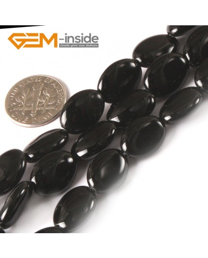 """G3040 10X14mm Natural Oval Black Agate Onyx Gemstone Loose Beads 15"""" Jewelry Making Beads Natural Stone Beads for Jewelry Making Wholesale"""