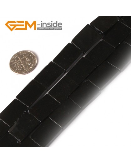 """G3042 12x16mm Rectangle Natural Black Agate Stone Beads Strand 15"""" Natural Stone Beads for Jewelry Making Wholesale"""