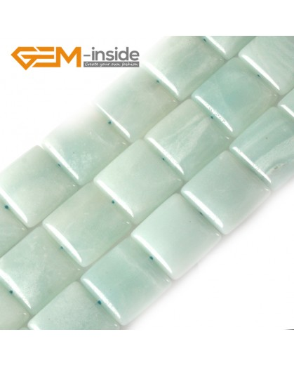 """G3052 20mm Square Gemstone Amazonite Jewelry Making Stone Loose Beads Strand 15"""" Natural Stone Beads for Jewelry Making Wholesale"""