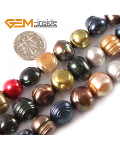 """G3281 12-16mm Freeform Multi-color Freshwater Pearl Beads Jewelry Making Gemstone Beads 15"""" Natural Stone Beads for Jewelry Making Wholesale"""
