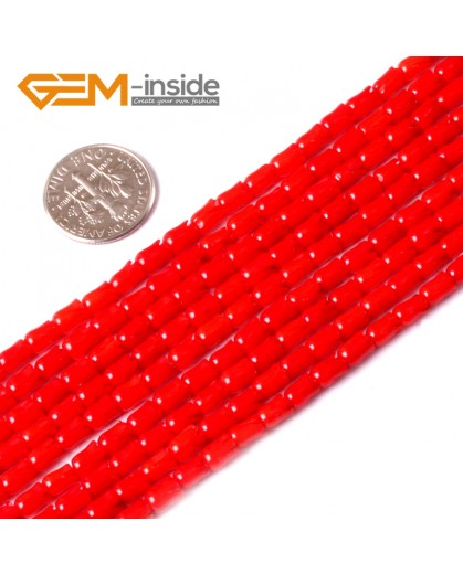 """G3438 3.5x4mm Red  Flower Shape Gemstone Jewelry Making Red Coral Loose Beads Strand 15"""" Natural Stone Beads for Jewelry Making Wholesale"""