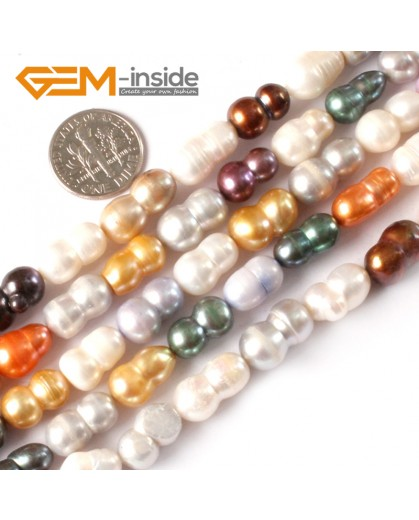 """G3790 Beautiful 12-13mm multi-color peanut freshwater pearl jewelry making beads 15"""" Natural Stone Beads for Jewelry Making Wholesale"""