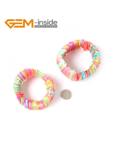 "G4227 28mm Mulcti-Color Shell MOP Dyed Color Bracelet  7 ""Two Kinds of Wear Method  Fashion Jewelry Jewellery Bracelets for Women"