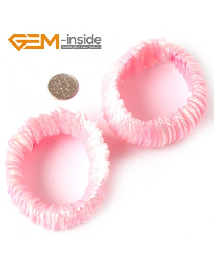 "G4411 28mm Pink Shell MOP Dyed Color Bracelet 7 ""Two Kinds of Wear Method  Fashion Jewelry Jewellery Bracelets for Women"