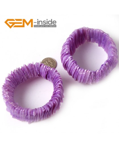 "G4414 28mm Purple Shell MOP Dyed Color Bracelet 7 ""Two Kinds of Wear Method  Fashion Jewelry Jewellery Bracelets for Women"