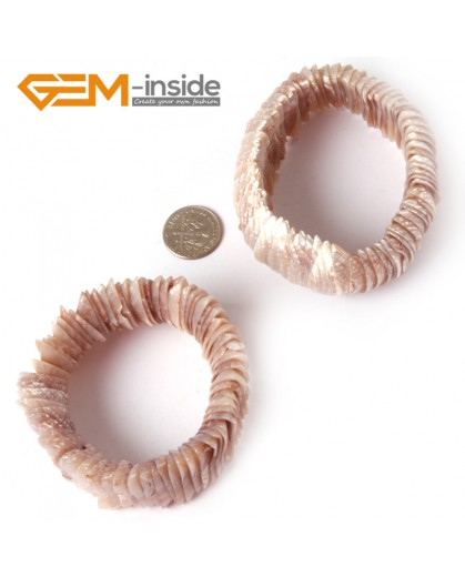 "G4416  28mm Light Brown Shell MOP Dyed Color Bracelet 7 ""Two Kinds of Wear Method  Fashion Jewelry Jewellery Bracelets for Women"