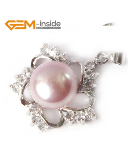 G4597 natural purple freshwater cultured pearl gold plated frame rhinestone crystal pendant  10-11mm Pendants Fashion Jewelry Jewellery