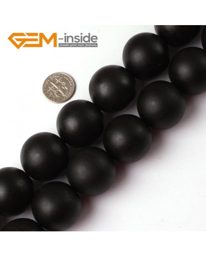 G5213 25mm Round Natural Brazil Balck Agate Onyx Loose Beads Gemstone Strands 15' Natural Stone Beads for Jewelry Making Wholesale