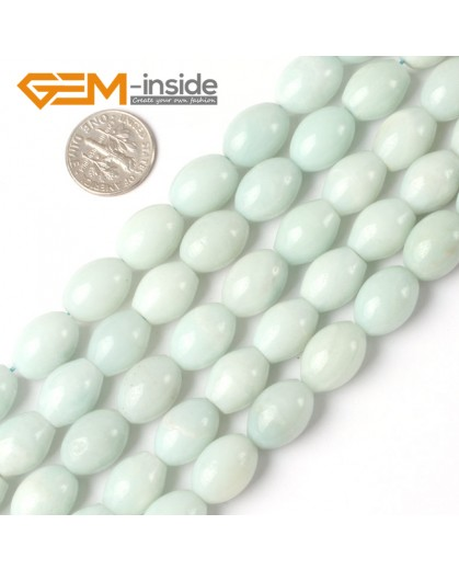 "G5253 10x14mm Olivary Amazonite Gemstone Beads 15"" Jewelry Making Loose Beads Free Shiping Natural Stone Beads for Jewelry Making Wholesale"