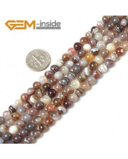 "G5408 6mm Round Gemstone Natural Botswana Agate Loose Beads strand 15"" Grey Gray Free Shipping Natural Stone Beads for Jewelry Making Wholesale"