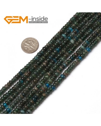 "G5969 3x5mm G-Beads Rondelle Kyanite Gemstone Beads 15"" Jewelry Making Beads 3X5  4X6mm Pick Natural Stone Beads for Jewelry Making Wholesale"