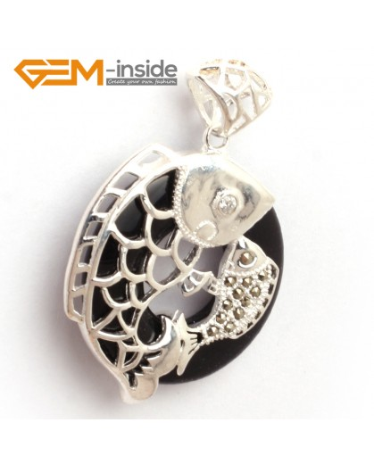 G6365 blue sandstone new fashion colorful ring loop silver pendant 32x46mm FREE box +necklace chain Pendants Fashion Jewelry Jewellery