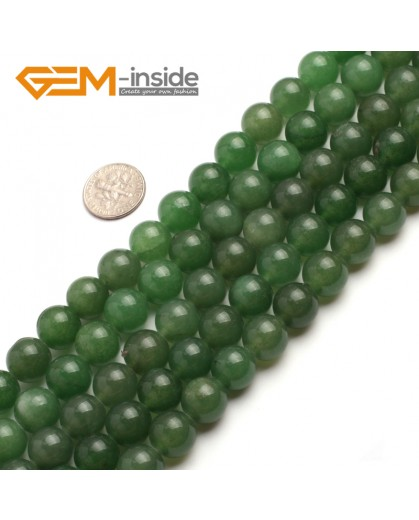 "G6464 12mm  Round Green Jade Aventurine Beads Strand 15""Jewelry Making Gemstone Loose Beads Natural Stone Beads for Jewelry Making Wholesale"