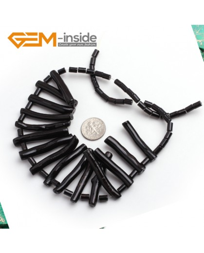 "G6514 3-7x30-40mm (graduated) G-Beads New branch black coral  loose beads ""jewelry making Natural Stone Beads for Jewelry Making Wholesale"