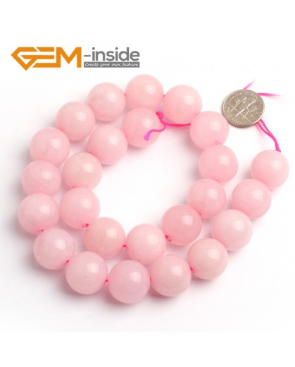 """G6625 Rose Pink 16mm Round Smooth Jade Beads Jewellery Making Loose Beads 15"""" Pick Size & Colour Natural Stone Beads for Jewelry Making Wholesale"""